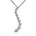 White gold and diamond journey curve pendant