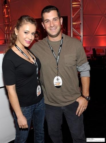 alyssa and david at BlackBerry VIP Hospitality Lounge at U2 konsiyerto