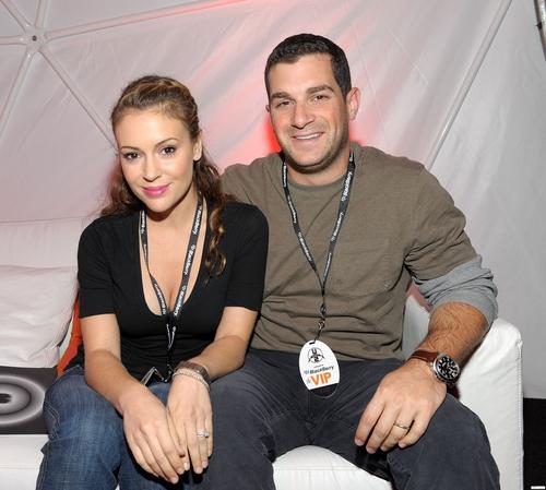 alyssa and david at BlackBerry VIP Hospitality Lounge at U2 konser