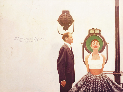 Audrey Hepburn wallpaper possibly containing a polonaise entitled audrey