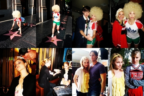 dianna with the glee cast