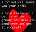 friendship quote/icon