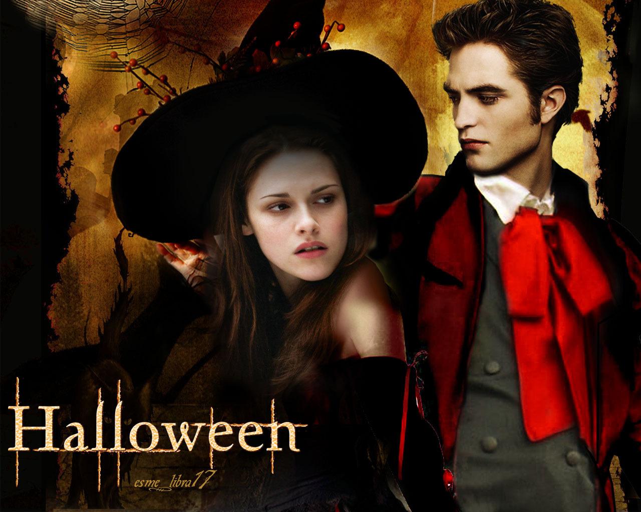 halloween wallpaper - twilight cast - twilight-crepusculo wallpaper