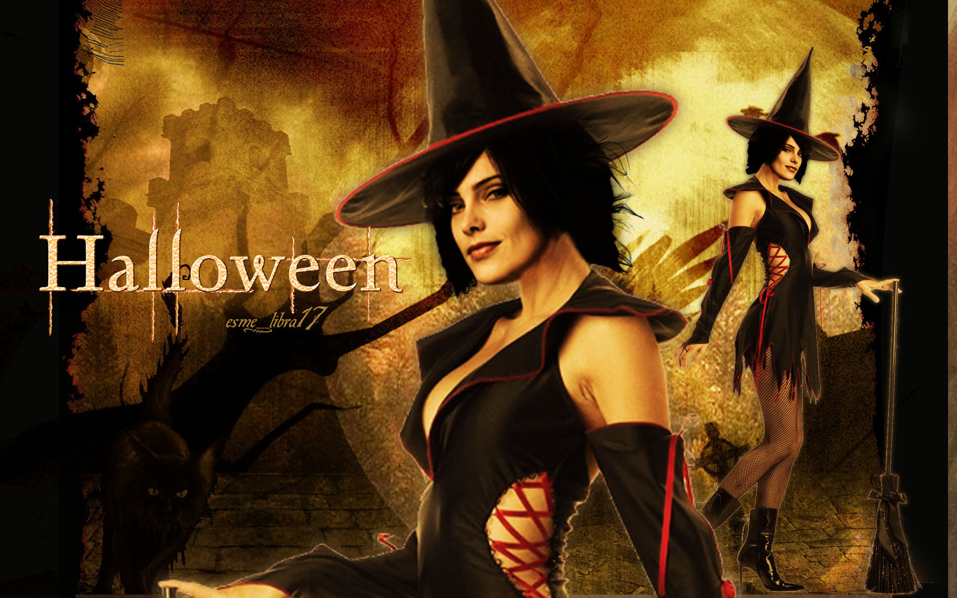 happy halloween - twilight cast - twilight-series wallpaper