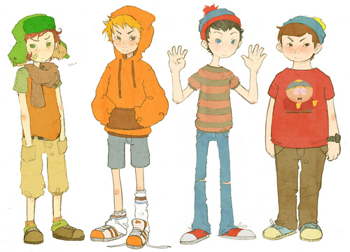 South Park hình nền with anime titled kyle, kenny, stan,cartman