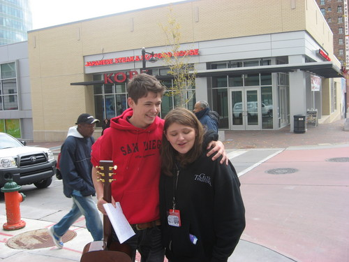 me and Damian Mcginty