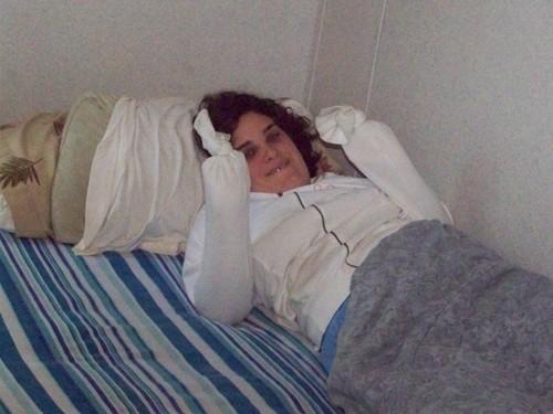 me (michelle) in cama