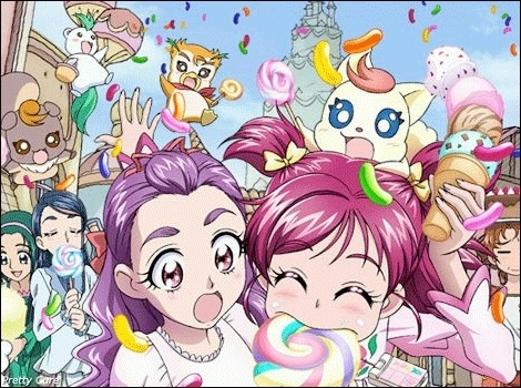 pretty cure 바탕화면 with 아니메 entitled she ate my lolly