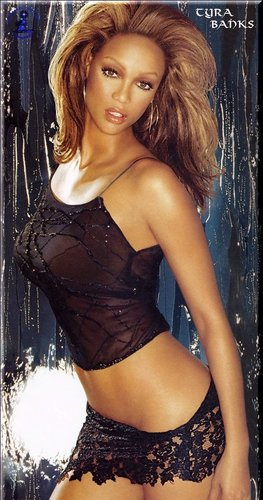 Tyra Banks wolpeyper possibly with attractiveness and a bustier called tyra