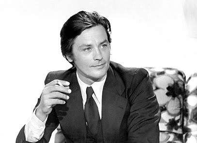 Alain Delon kertas dinding with a business suit, a suit, and a well dressed person titled Alain Delon