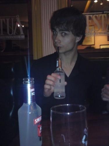 Alexander Drinking smirnoff =)
