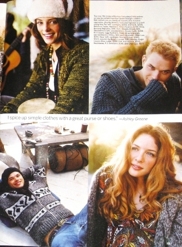 Ashley Greene, Kellan Lutz and Rachelle Lefevre in November Self Magazine Issue