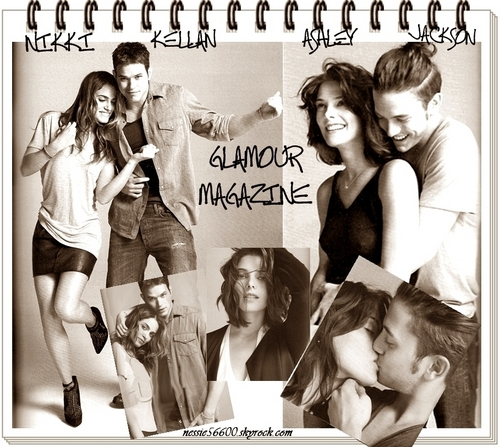 Jackson Rathbone & Ashley Greene wallpaper probably with a bouquet and a sign titled Ashley& Jackson (This is a pic from Glamour Magazine.)
