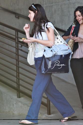 Ashley leave studio in Hollywood
