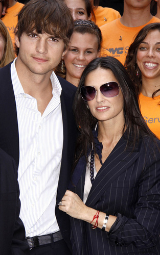 Ashton & Demi in NYC