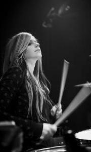 Avril Playing the Drums