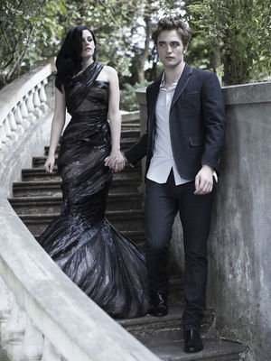 Bazaar's photoshoot w/ Rob & Kristen