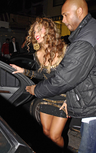 Beyoncé at the 2009 EMA's and after party