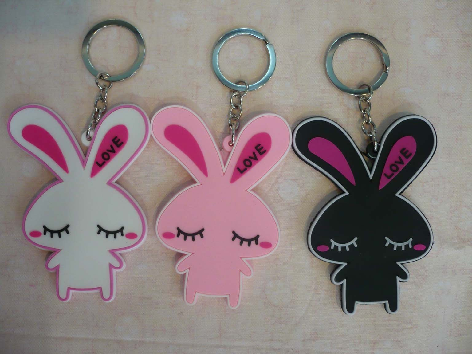Bunnies Keychains