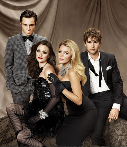 Gossip Girl wallpaper probably containing a dress suit and a business suit called Cast