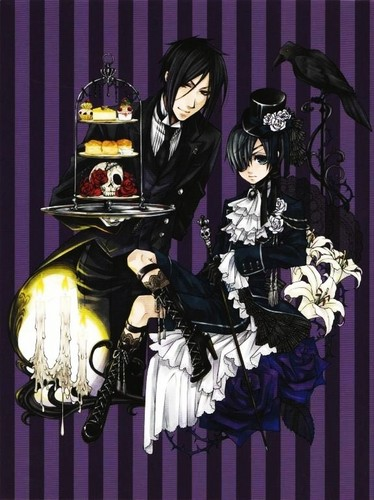 Ciel Phantomhive wallpaper containing anime entitled Ciel&Sebastian
