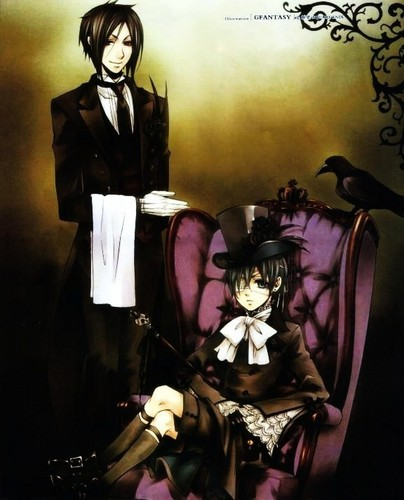 Ciel Phantomhive wolpeyper possibly with anime called Ciel&Sebastian