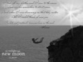 Cliff jumping Bella from New Moon - new-moon wallpaper