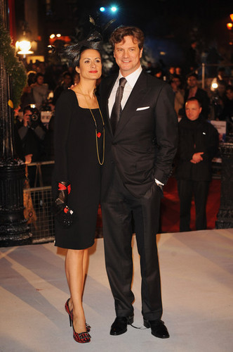 Colin Firth arriving at A クリスマス Carol premiere in ロンドン