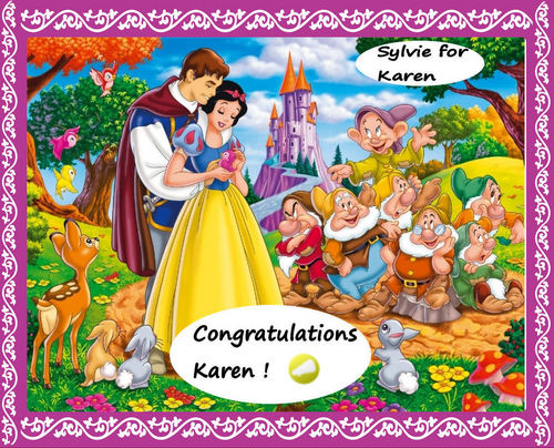 Congrats Karen for your Die-Hard medal on Snow White spot !