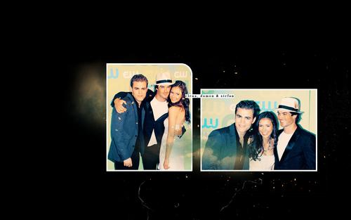Damon, Elena & Stefan .<3