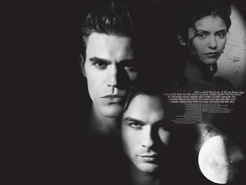 Damon, Katherine and Stefan
