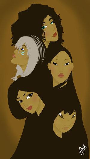 Héroïnes disney fanarts Disney-Girl-Montage-disney-femslash-8957491-300-525