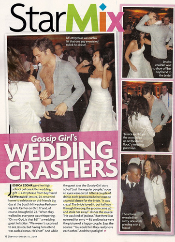 Ed Westwick's Wedding Striptease