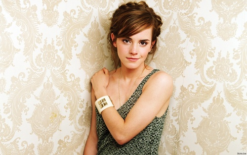 Emma Watson wolpeyper possibly with a kaktel dress titled Emma Watson