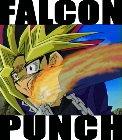 Yu-Gi-Oh Abridged wallpaper containing anime called Falcon PUNCH!