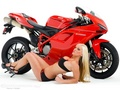 GIRL &amp; DUCATI - motorcycles wallpaper
