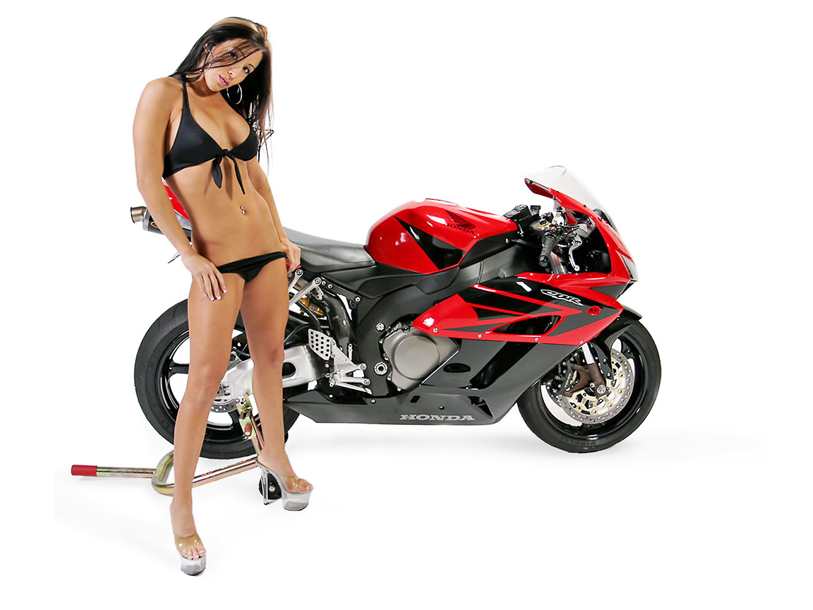 GIRL & HONDA CBR - motorcycles wallpaper