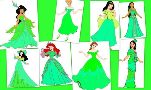 Green dresses 's princess