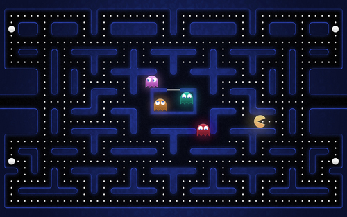 Grid - pac-man Wallpaper