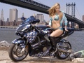 HOT GIRL ON BIKE - motorcycles wallpaper