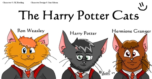 Harry Potter gatos Fanart