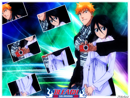Bleach Ichigo And Rukia Wallpaper Probably With Anime Entitled