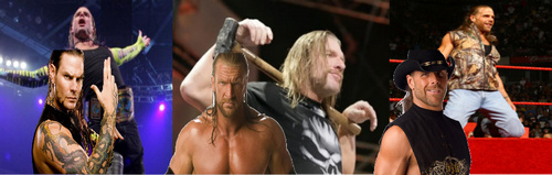 Jeff Hardy,Triple H,and Shawn Michaels