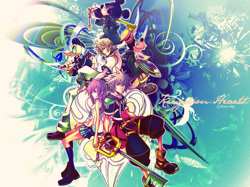 Kingdom Hearts 2 fond d'écran probably with animé called KH2