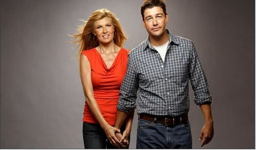 Friday Night Lights wallpaper with a well dressed person titled Kyle Chandler & Connie Britton