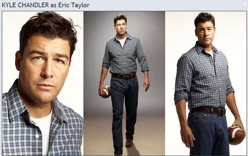 Friday Night Lights দেওয়ালপত্র containing a well dressed person titled Kyle Chandler