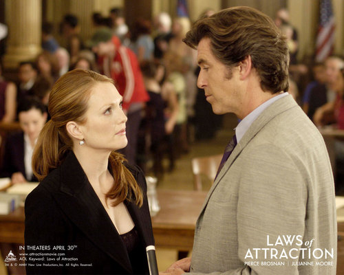 Laws of Attraction achtergrond with a business suit and a well dressed person titled Laws of Attraction