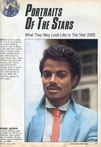 MJ in newspaper, August 1985