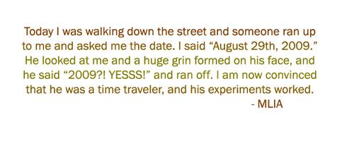 MLIA time traveler quote 由 Wholigan