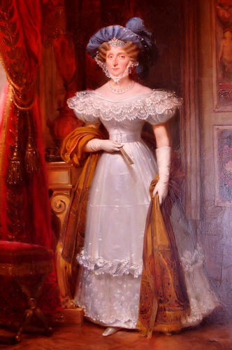 Kings and Queens wallpaper probably with a polonaise, a dinner dress, and a gown called Maria Amalia of the Two Sicilies, Queen of France